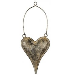 this small hanging metal heart will be sure to place perfectly in any themed home space