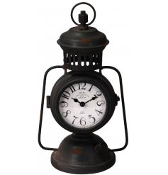 this lantern inspired clock will be sure to add a vintage charm to any space its in