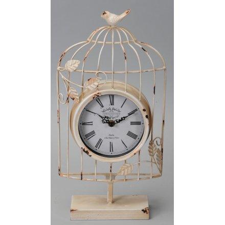 Shabby Chic Bird Cage Clock