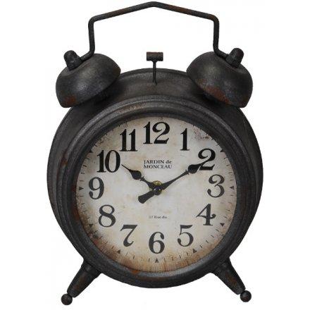 Alarm Inspired Metal Clock
