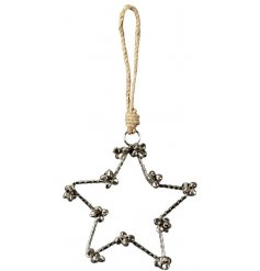 Bring a festive jingle to your home displays at Christmas with this silver toned hanging star decoration