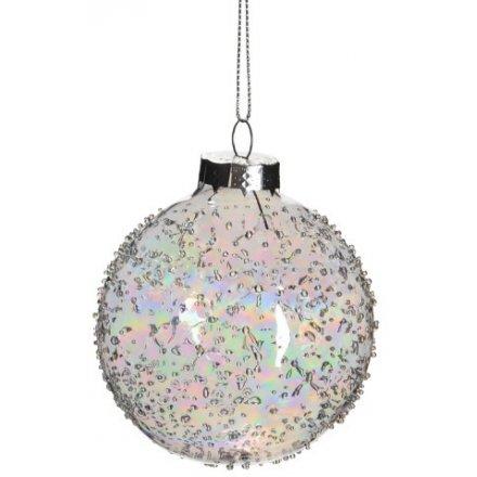 Iridescent Glass Bauble