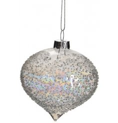 Bring an elegant yet simple charm to your Tree decor at Christmas with this clear glass droplet bauble
