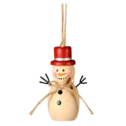 Hanging Wooden Snowman