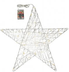 Bring a warming glow to any home space with this chic and stylish woven silver LED star decoration