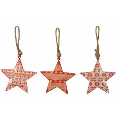 Three assorted nordic hanging Christmas decorations