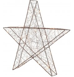 Bring a rustic Winter Luxe touch to any home decor this Christmas season with this stylishly chic metal LED star
