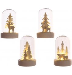 Bring a beautiful warming glow to any sideboard, shelf or table centre with this charming mix of LED filled cloches
