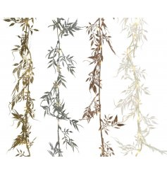 Assorted Micro LED Leaf Garlands  Bring a subtle sparkle to any home decor or display scene this Festive Season