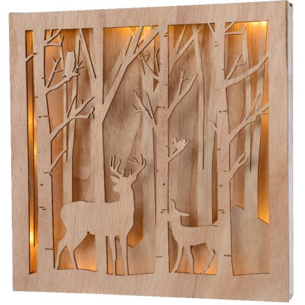 Natural Wooden Scene Frame 23cm