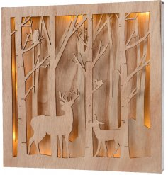this Winter Woodland inspired scene frame will be sure to place perfectly in any home or display set up