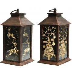 Bring a beautiful warm glow to your home interior at Christmas with this charming mix of patterned LED lanterns