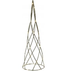 Add a glittery and simplistic edge to any home scene with this LED Cone Decoration