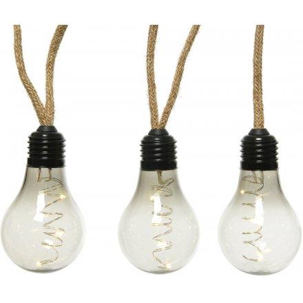 Industrial Chic Hemp Rope LED Bulbs