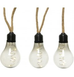 Bring an Industrial Chic charm to your home decor or displays with this string of smoked bulb LEDs