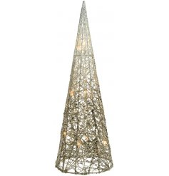 Bring a glitz inspired edge to your home decor or displays at Christmas with this stylishly sparkly cottonwire wrapped
