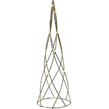 Glitter LED Spire Decoration, 60cm
