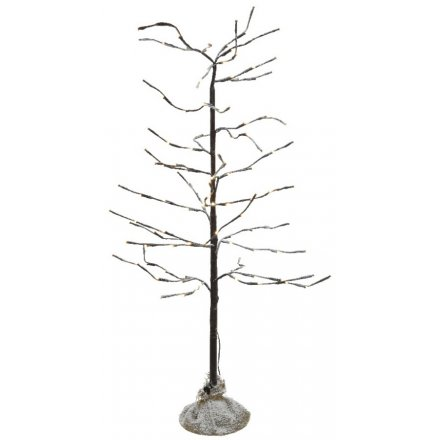 Frosted LED Twig Tree, 120cm