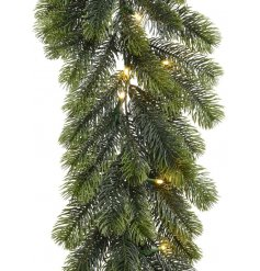 Bring a soft warm glow to any home display with this realistic looking pine needle garland with fitted LED lights