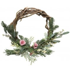 this beautifully decorated wreath will be sure to tie in with any themed decor or display during Christmas