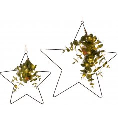 Bring a warming glow to any home space with this delightful set of sized star decorations