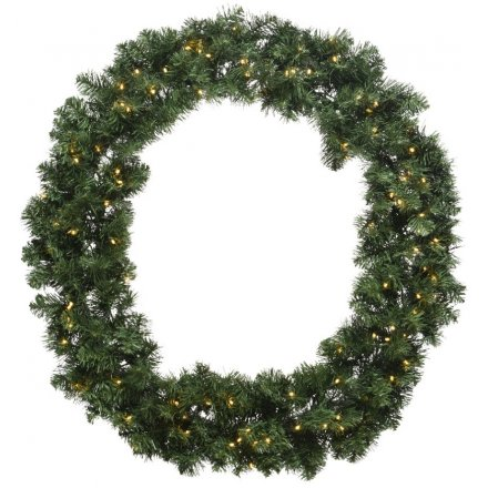 Round Imperial Wreath With LEDs