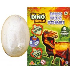 A magical fizzy bath bomb that reveals a hidden dino within