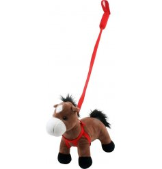 A fun and friendly clip clopping horse soft toy, complete with a harness and lead!