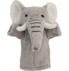 An adorable and soft to the touch Elephant Puppet Pal