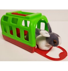 A super soft and snuggly Bunny soft toy complete with their own colourful carry case