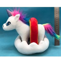 Set within a matching plush cloud and rainbow, this magical AdoptiPal toy will be a perfect companion for your little o