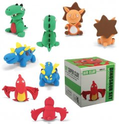 A fun box filled with coloured air drying modelling clay and added instructions on how to make the perfect dinosaur!