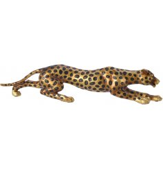 A crouching Leopard Ornament, suitable for any home wanting a Wild Twist