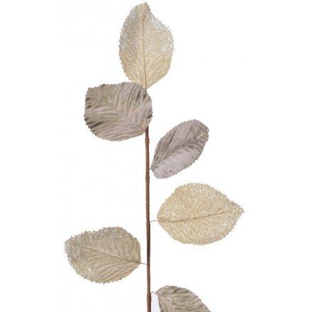 Gold Metallic Leaf Spray