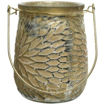 Golden Petal Ridge Candle Holder