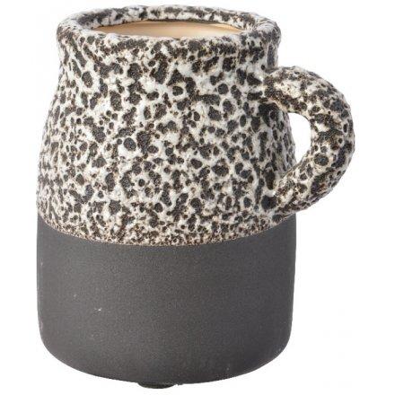 Distressed Stoneware Vase, 13cm