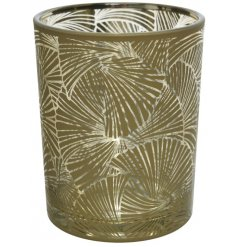 Part of the trendy Greenery Theme, this glass tlight holder will be sure to place perfectly in any home space