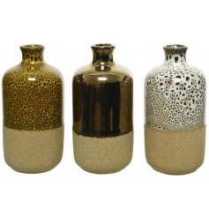 this assortment of stoneware Vases will bring a Rustic Charm to any home interior