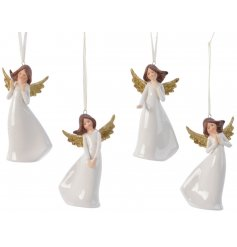 Add an angelic touch to your Tree decor at Christmas with this sweet little mix of posed porcelain angel hangers
