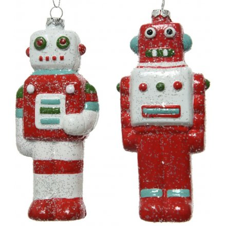 Glitter Robot Decoration, 2a