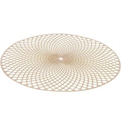 , this round mandala patterned placemat will bring an added charm to any dining room