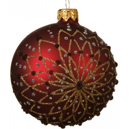 Oxblood Glitter Bauble