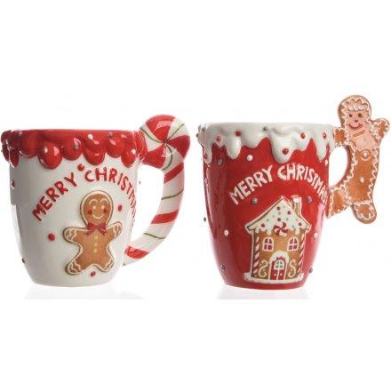 Candy Land Gingerbread Mugs