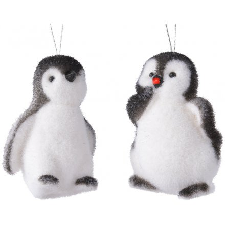 Assorted Hanging Fuzzy Penguins