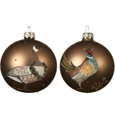 Bring a Country Charm feel to your Christmas Display with this assortment of Bronzed Shatterproof Baubles
