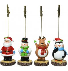 Display all your Christmas Cards with the help of these fun Festive Character Card Holders