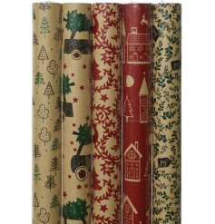 A delightful assortment of traditional toned wrapping paper with an added Eco-Friendly touch!