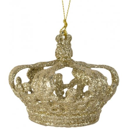 Gold Glitter Crown Hanger