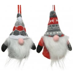 A cute mix of Nordic coloured hanging Gonks with fuzzy beards and pink noses