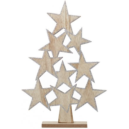 Simple Wooden Star Tree